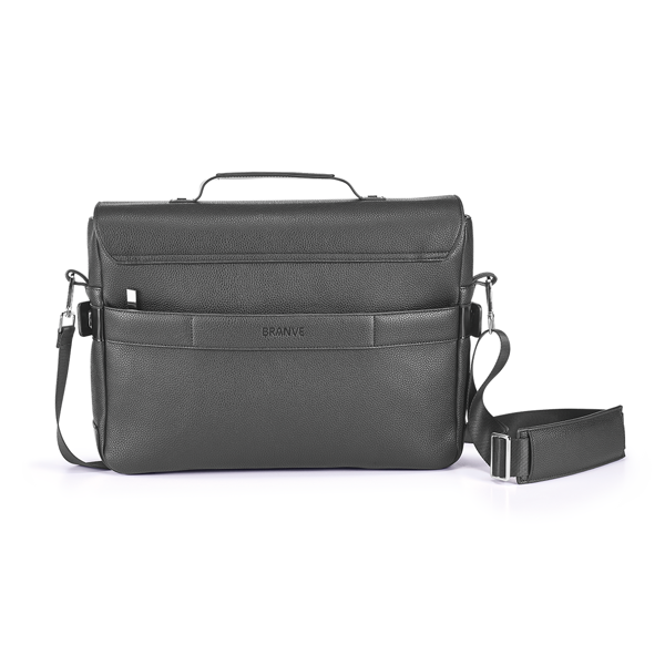 Branve EMPIRE Suitcase I front. Modern executive suitcase with a sophisticated touch. High quality textured imitation leather