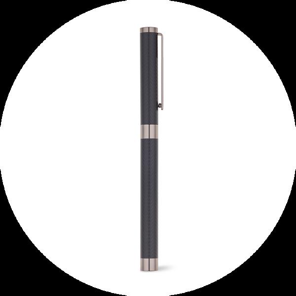 Branve SIGN II ballpen. Sleek metal roller with matte black finishing and stainless steel clip.