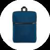 Branve URBAN Backpack front in blue colour. Versatile, high-density soft shell city tarpaulin backpack.