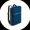 Branve URBAN Backpack blue from left side.