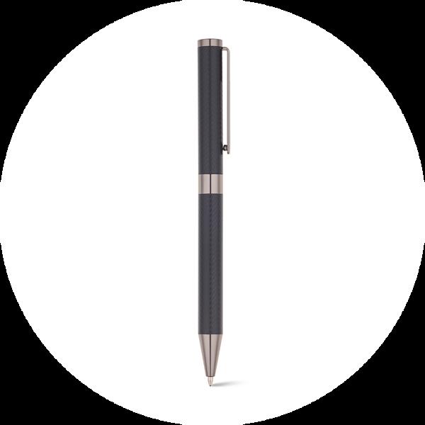 Branve SIGN I ballpen. Ball pen with matte black finishing and stainless steel clip.