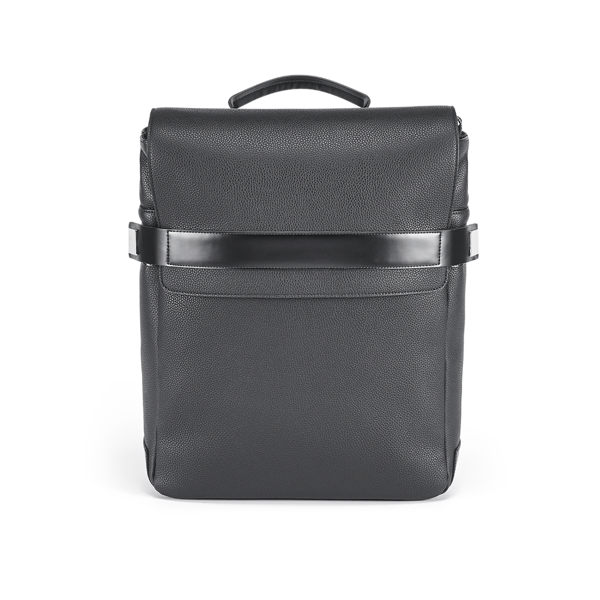 Branve EMPIRE backpack front. City and sophisticated in split leather with PU