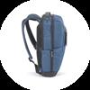 Branve MOTION Backpack blue colour left side with straps details.