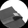 Branve EMPIRE Notebook open buckle detail.